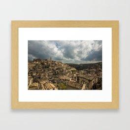 Italian landscapes - Matera Framed Art Print