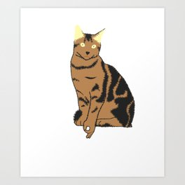 Funny Cat Circle Game Got You Cat Lover Design Art Print