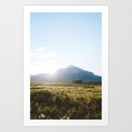 Sunrise Behind Mount Crested Butte Art Print