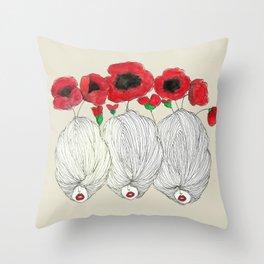 Poppy Girls Throw Pillow