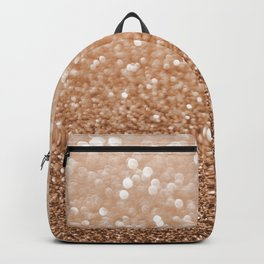 Copper Shiny Powder Texure Backpack