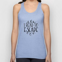 I Read to Escape (Trees) Unisex Tank Top
