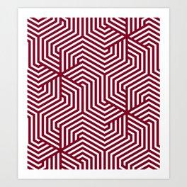 Oxblood - purple - Minimal Vector Seamless Pattern Art Print