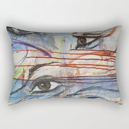 I love your Eyes - Oilpainting from 1991 Rectangular Pillow