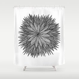 Prickly Star Shower Curtain