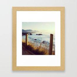 Oregon Coast View Framed Art Print