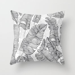 Banana leaf pattern Throw Pillow