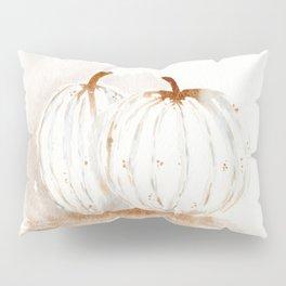 White Pumpkins Pillow Sham