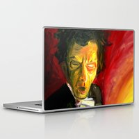 tom waits Laptop & iPad Skins featuring Mr. Waits by The Being art