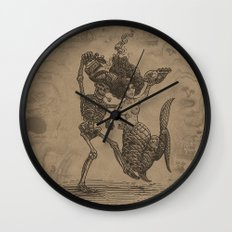 Dancing Mermaid and Skeleton Wall Clock