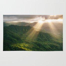 Oahu Afternoon Sunset Rays Rug