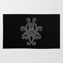Intricate Dark Octopus Rug