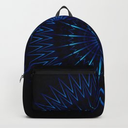 Blue Light Mandala Backpack