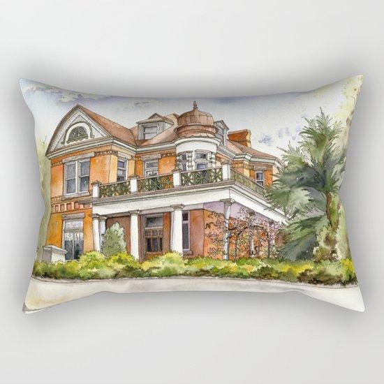 Stately Manor House Rectangular Pillow