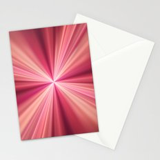 Pink Rays Abstract Fractal Art Stationery Cards