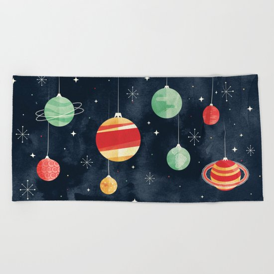 Joy to the Universe Beach Towel