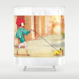 Liselle & Rocky Shower Curtain
