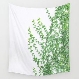 Green creepers climbing the wall Wall Tapestry