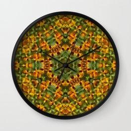 Daisies abstract mandala Wall Clock