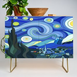 Tardis Art Starry Night Credenza