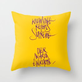 Knowledge #2 Throw Pillow