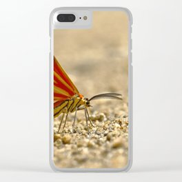 moth in the jungle Clear iPhone Case