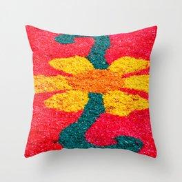 Flower carpets Throw Pillow