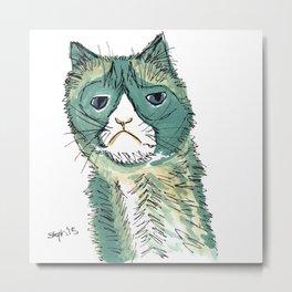 One Grumpy Kitty  Metal Print