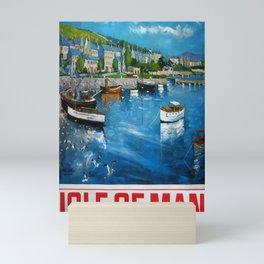 altes Plakat Isle of Man Mini Art Print