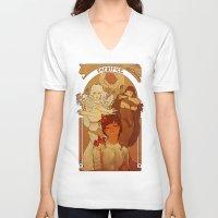 berserk V-neck T-shirts featuring Sacrifice by Marta Milczarek