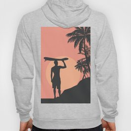 Sunset Beach Surfer Hoody