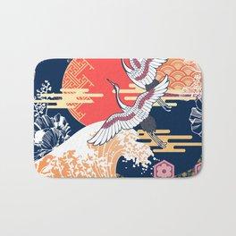 Moon and Crane Bath Mat