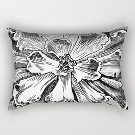 Echeveria engraving Rectangular Pillow
