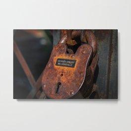 Rusty Lock Metal Print
