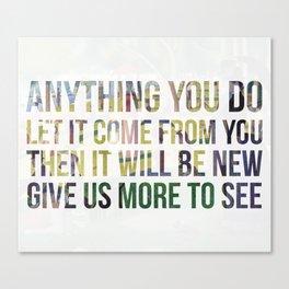Move On Canvas Print