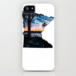 Minnesota State Silhouette Summer iPhone Case