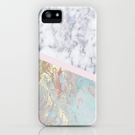 Whimsical marble fantasy iPhone Case