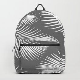 Dark Gray Tropical Pattern Backpack
