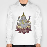 ganesh Hoodies featuring Ganesh by Street But Elegant