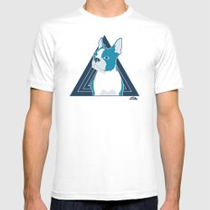 In Dog We Trust. MEDIUM White Mens Fitted Tee