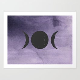 Triple Moon Goddess Art Print