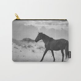Assateague Island's black stallion Charcoal Carry-All Pouch