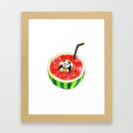 How Pandas Keep it Cool Framed Art Print