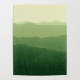 gradient landscape green Poster