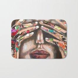 artist hands Bath Mat