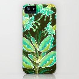 Irish Garden, Lime Green Flowers Dance in Joy iPhone Case