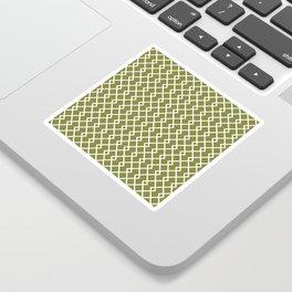 Olive Green Diamond Pattern Sticker