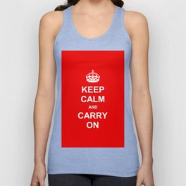 Keep Calm and Carry On Unisex Tank Top