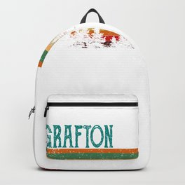 grafton Illinois Retro Vintage Custom Funny Backpack