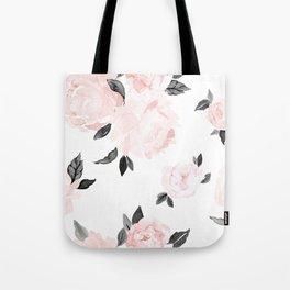 Vintage Blush Floral - BW Tote Bag